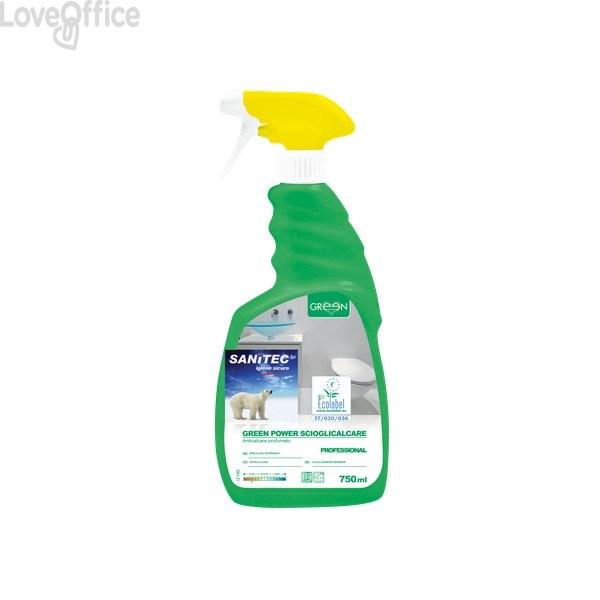 Detergente ecologico scioglicalcare per bagni Sanitec - 750 ml - 3103