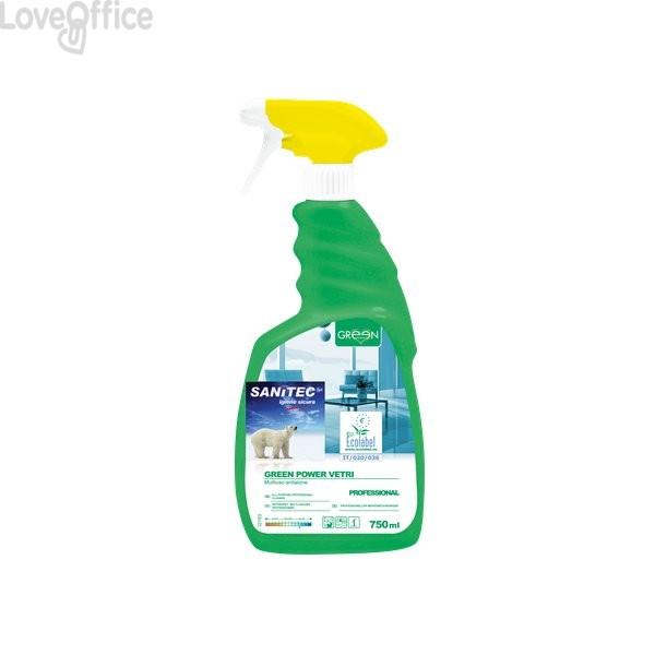 Detergente ecologico per vetri specchi e superfici Sanitec - 750 ml - 3102