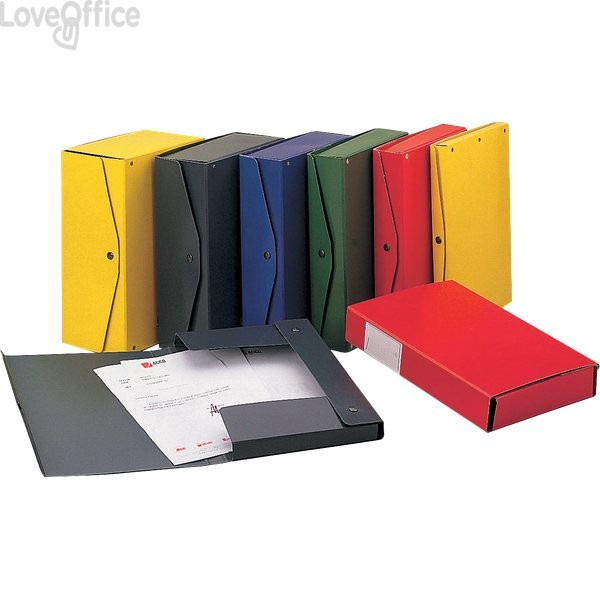 Scatola archivio Project King Mec - dorso 8 cm - 25x35 cm - blu - 00023704 (conf.5)