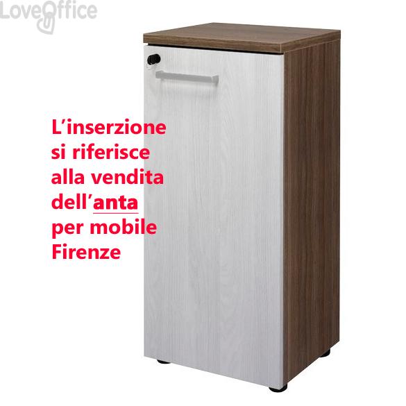 Anta singola per mobile a giorno Firenze - 40x1,8x82 cm