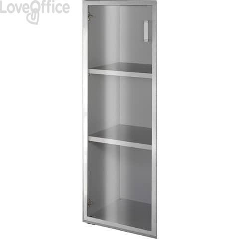 Anta alluminio-vetro Alessandria 45x90 cm destra
