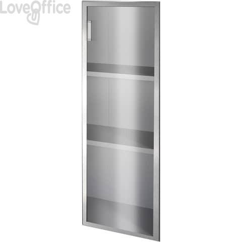 Anta alluminio-vetro Alessandria 45x90 cm sinistra