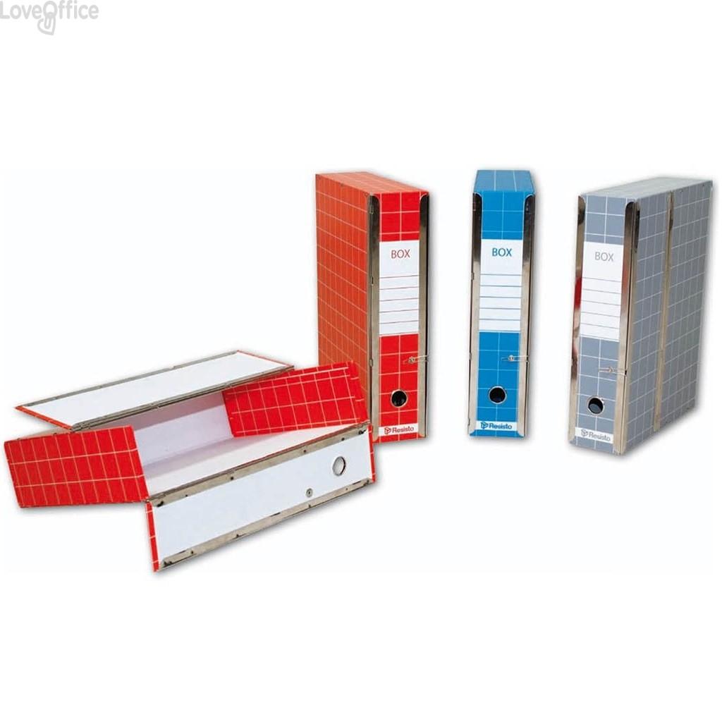 Scatola con cerniera Box 1 Resisto - 28x35x8,5 cm - 9 cm - Rosso