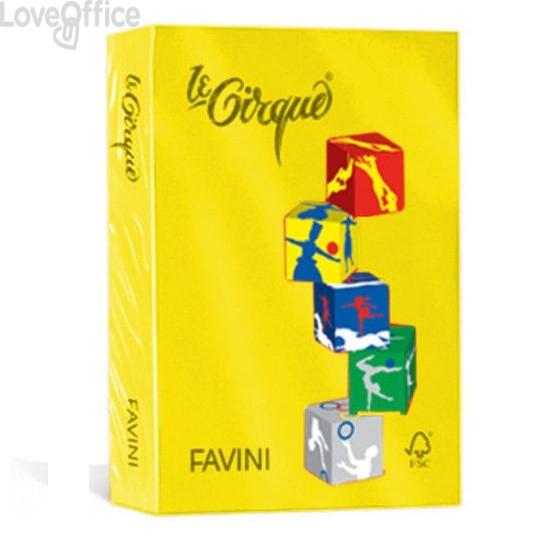 Risma carta colorata Le Cirque Favini - A4 - 80 g/mq - giallo solare (risma500)