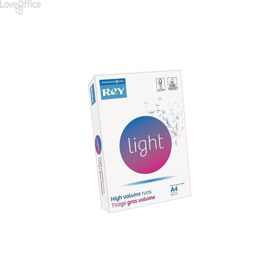 Carta per fotocopie A4 bianca INTERNATIONAL PAPER Rey Light 75 g/m² (5 risme da 500 fogli)