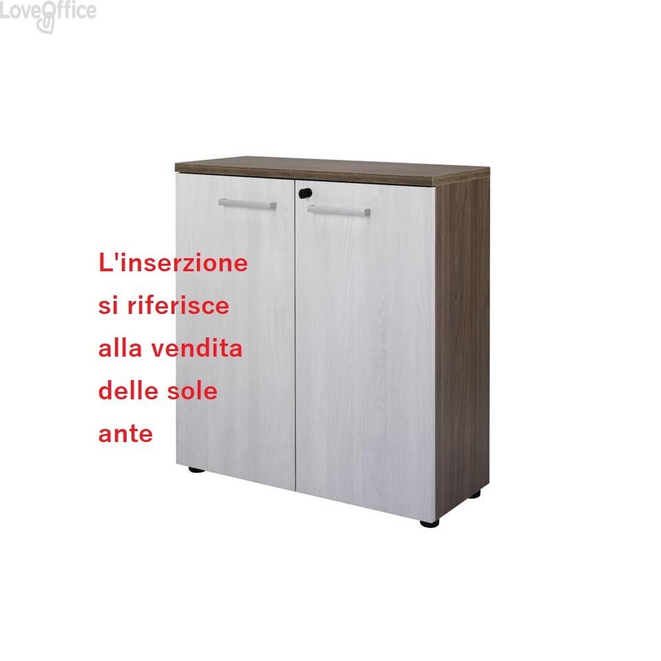 conf. di 2 Ante per Mobile Firenze Unisit 80X35x88 cm