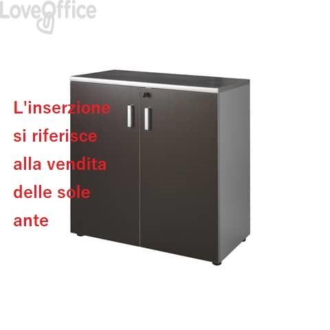 Coppia ante mobile basso Unisit Spirit 90x90 cm wengé