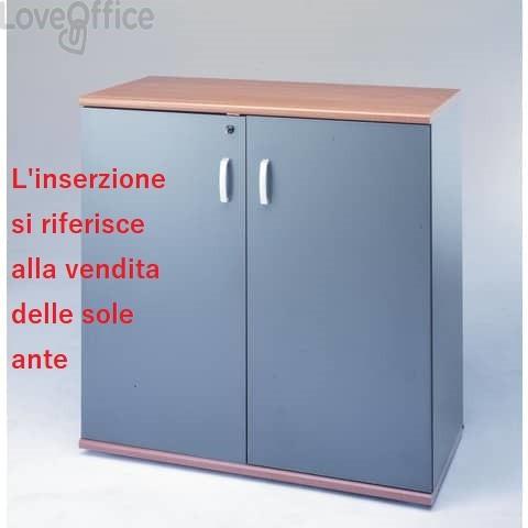 Coppia ante per mobili Unisit Venice media larghezza 90x90 cm Grigio Antracite UVEAT99