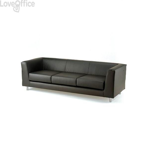 Divano 3 posti - divano sala attesa QUAD UNISIT - fili di luce - GRIGIO ANTRACITE - QD3/F14