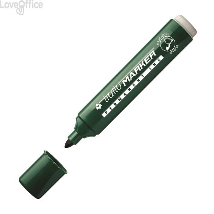 Tratto Marker Pennarelli indelebili verdi - tonda - 4,7 mm (conf.12)