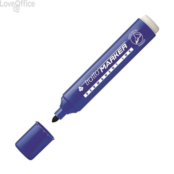 Tratto Marker Pennarelli indelebili Blu - tonda - 1- 5 mm - 841101 (conf.12)