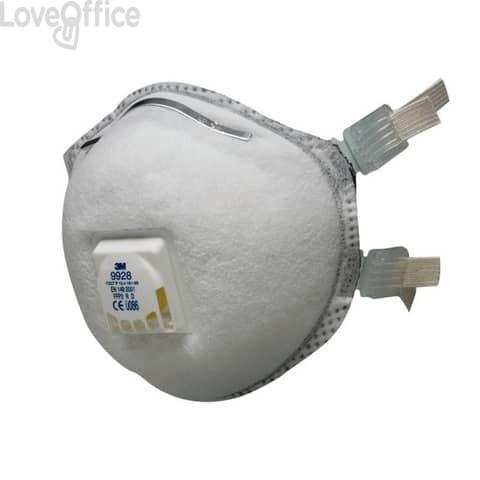 Respiratore monouso 3M FFP2 con valvola n/a 9928 (conf.10)