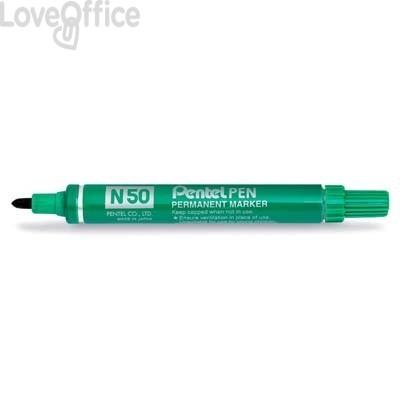 Pentel Pennarello indelebile verde - Pentel N50 - tonda - 4,3 mm