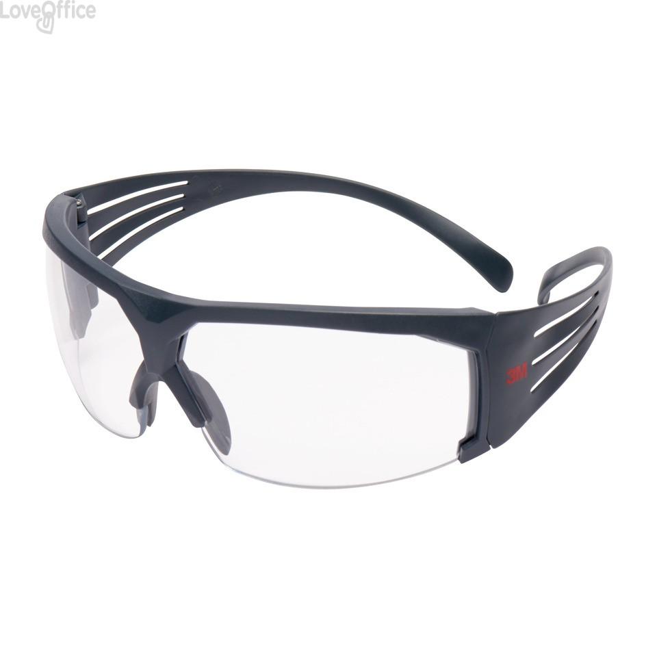 Occhiali di protezione 3M lenti trasparenti in PC