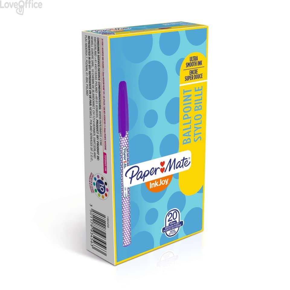 Penne a sfera con cappuccio Inkjoy 100 WRAP Papermate - 1 mm - Colori assortiti (conf.20)