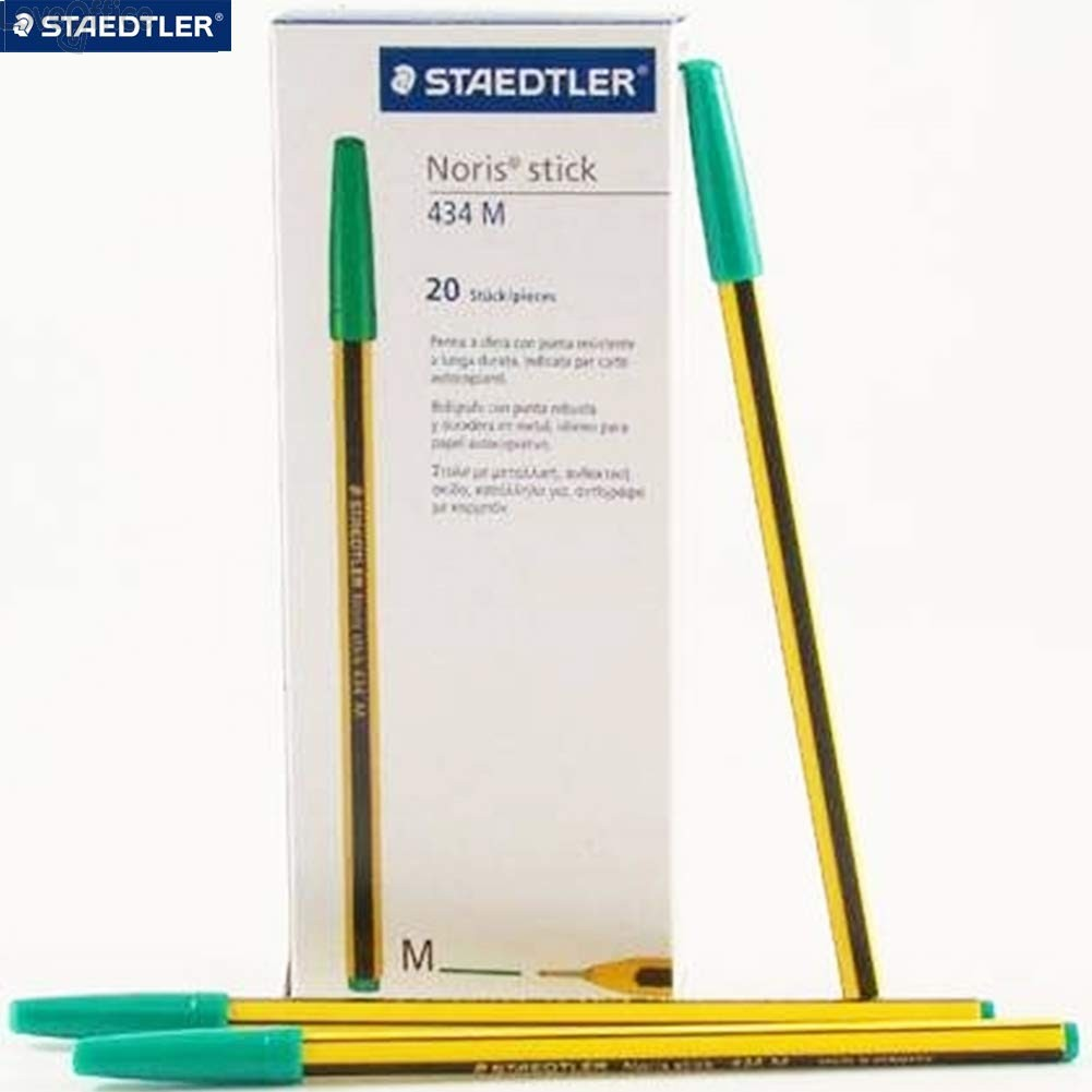Penne a sfera Noris Stick Staedtler - verde - 1 mm (conf.20)