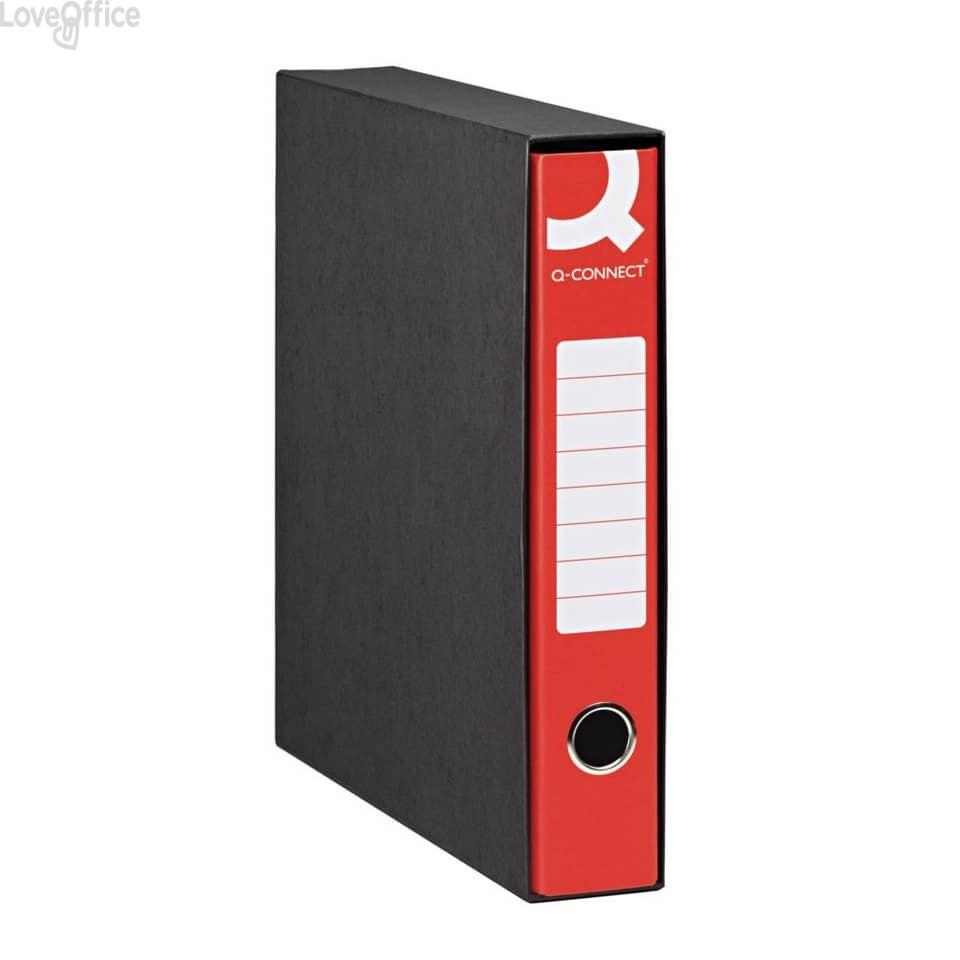 Registratori a leva - registratore commerciale - dorso 5 cm - 23x30 cm - rosso (conf.8)
