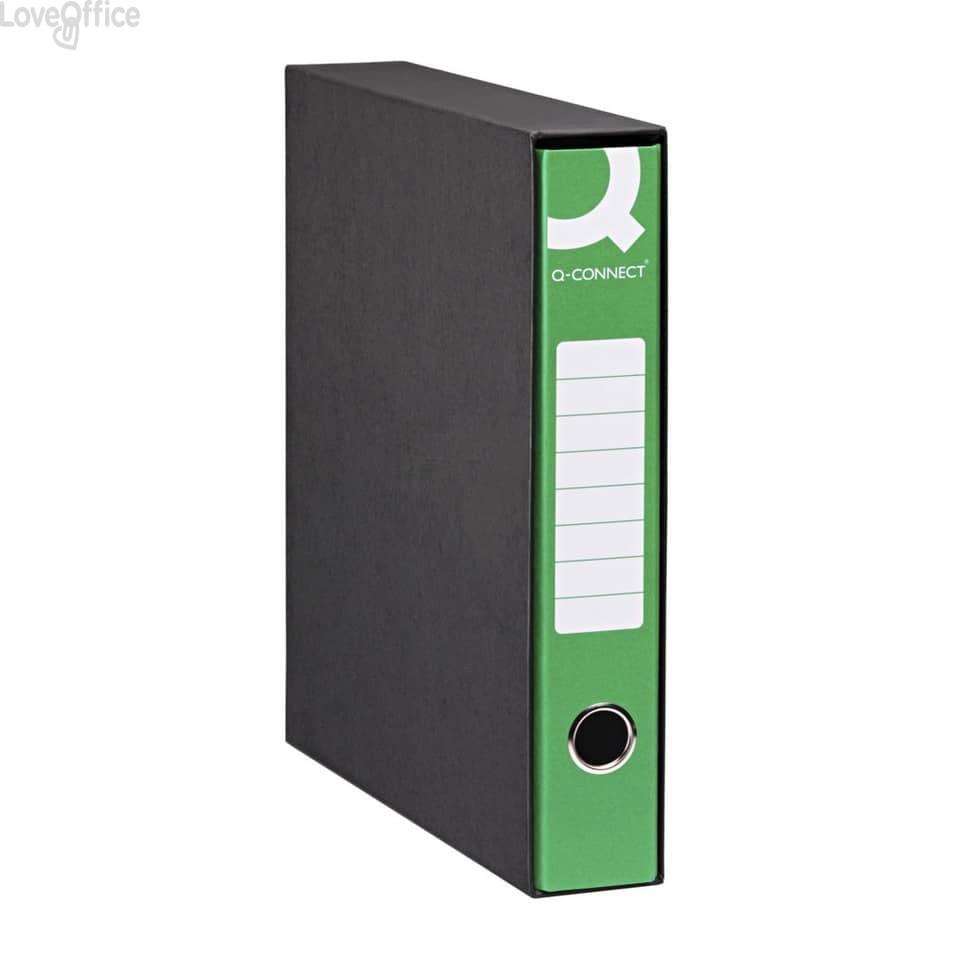 Registratori a leva - registratore commerciale - dorso 5 cm - 23x30 cm - verde (conf.8)
