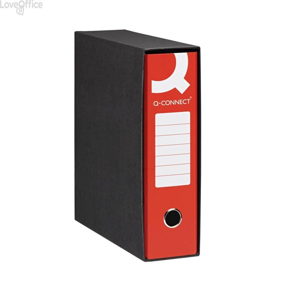 Registratori a leva - registratore commerciale - dorso 8 cm - 23x30 cm - Rosso (conf.6)
