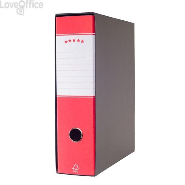 Registratori a leva Budget - registratore protocollo - dorso 8 cm - 23x34 cm - rosso - 943585 (conf.6)