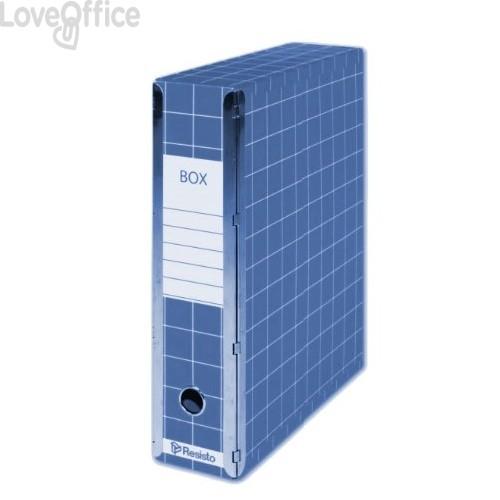 Scatola con cerniera Box 4 Resisto - 28x35x8,5 cm - 9 cm - Blu