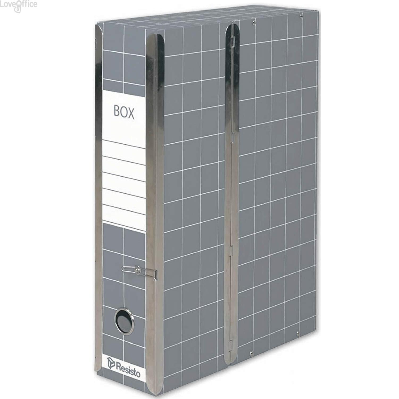 Scatola con cerniera Box 1 Resisto - 28x35x8,5 cm - 9 cm - Grigio