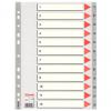 Pagina indice e divisori numerici in PPL per rubrica Esselte - 12 tasti